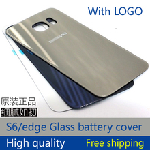 Original battery cover for Samsung Galaxy S6 back glass g9200 sm-920 rear battery compartment back housing cover with glue