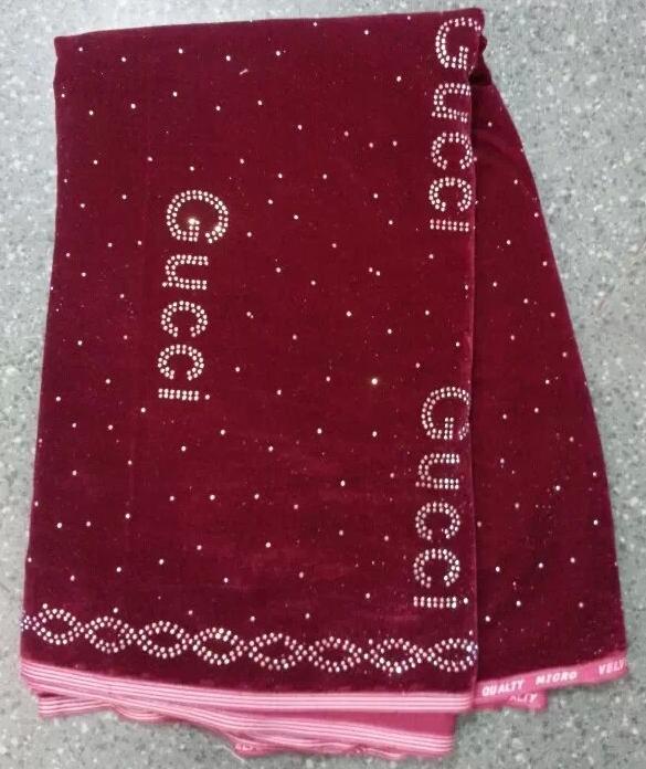 African velvet lace fabric evening dress 5 yards/ lot Swiss silk fast - Guangzhou store