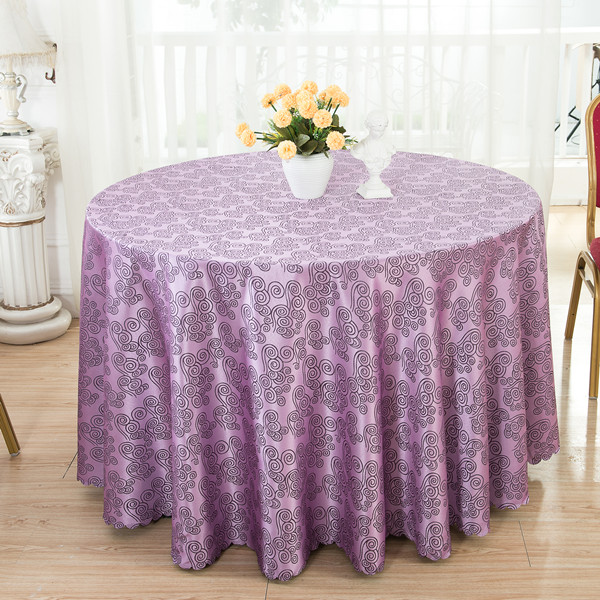 1PCS Polyester Kitchen Dining Tablecloth Round Table Cloth For Wedding Big Size Hotel/Party Table Linens Table Covers Purple(China (Mainland))