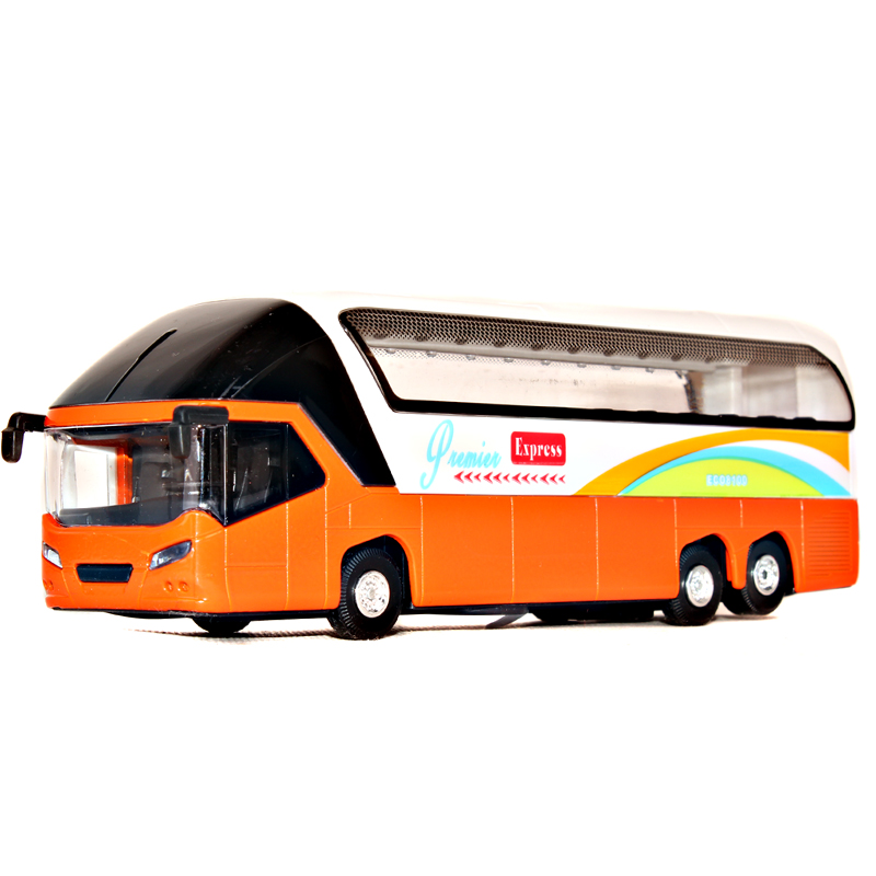 Alloy real voice at the airport bus station Limousine Coach alloy car toys(China (Mainland))
