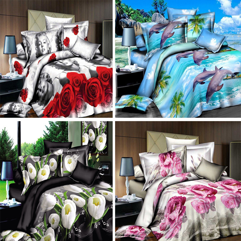 Bedding set,3d bedding set,bedclothes king size,queen size,duvet cover bed sheet pillowcase HD Pattern Free shipping(China (Mainland))
