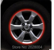 Car styling stickers reflective stickers car tire trim tire rim stickers personalized decorative stickers(China (Mainland))