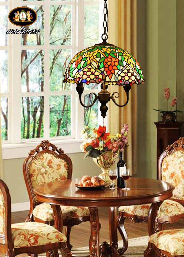 Tiffany style TIFFANY CHANDELIER stained glass hanging lamp chandelier pendant lamp(China (Mainland))