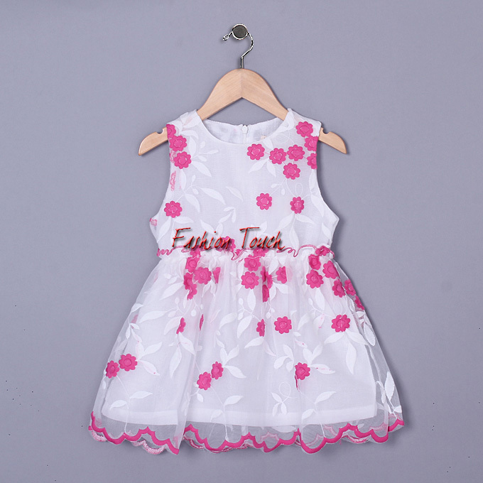 2016 Baby Frock Girl Dresses Embroidered Girls Party Pink Wear Korea Style Girl O-neck Clothing Children Costume GD50328-3^^FT(China (Mainland))
