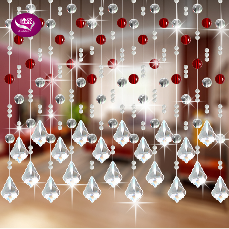 20M/lot, Fashion Crystal Bead Curtain Can Customized Decoration Door Curtain Window Beads Curtain Free Shipping(China (Mainland))
