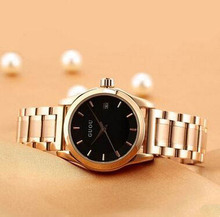 GUOU durable stainless steel watch strap watch ancient European minimalist fashion ladies watch with calendar watc giving gifts.