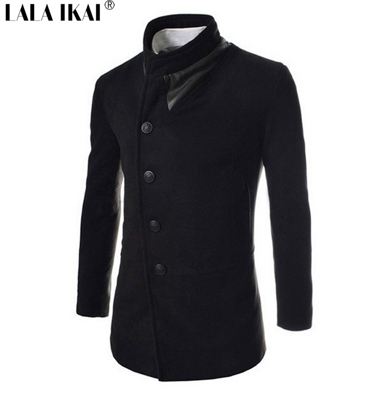2015 New Fashion Patchwork Solid Coat Male Long Sleeve Jacket Winter Overcoat Cotton Spring Coat SMH0015-5Одежда и ак�е��уары<br><br><br>Aliexpress