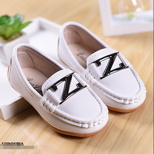 2016 Male Child Candy Color Loafers Children Shoes Leather Kids Sneaker Boys Girls chaussure enfant Size 21-36  -  Online Shop NO.1 store