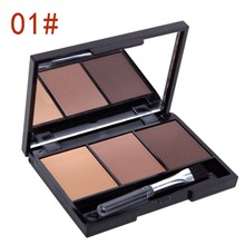 3 Colors Set Women New Makeup Eyeshadow Palette Eyebrow Eye Shadow Powder Cosmetic Make Up Set(China (Mainland))