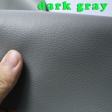 Dark gray Small Lychee PU leather, Faux Leather Fabric, PU artificial leather. Upholstery leather, BY THE YARD, FREE SHIPPING(China (Mainland))