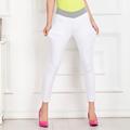 Women ankle length pencil pants white elastic waist jeans slim women pants plus size denim pants