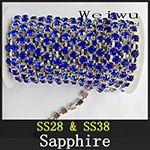 Rhinestone Chain Sapphire xzs008