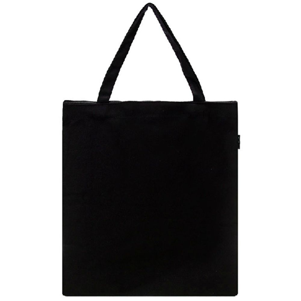 12oz Cotton Black White Women's Zipper Eco Bags Canvas Ladies Tote Bag Blank Handbags Plain Shopping Travel Solid Zip Shoulder(China (Mainland))