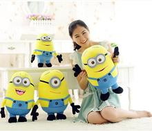 "Big Size 33.5"" 85cm 3D Despicable ME Very Big Movie Plush Skin Minion's Skin  Minions Toys & Hobbies One PCS Wholesale(China (Mainland))"