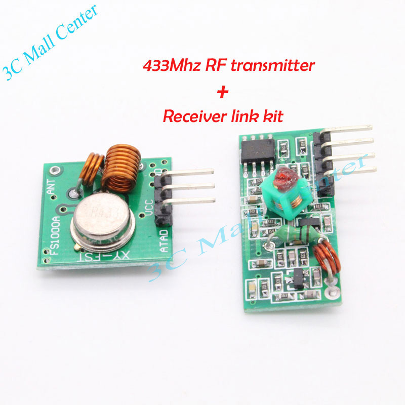 Best prices !!!& 1 pair (2pcs)433Mhz RF transmitter and receiver link kit for Arduino/ARM/MCU WL(China (Mainland))