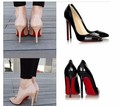 Free shipping Fashion Sexy Pointed Toe Women Pumps Platform 11cm High Heels Ladies Wedding Nude Pumps