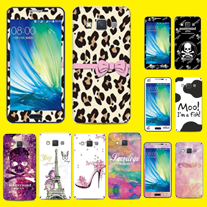 Cartoon Style Cell Phone Full skin screen protector film Lovely Decor Sticker Case For Samsung Galaxy A3 A300F A3000(China (Mainland))