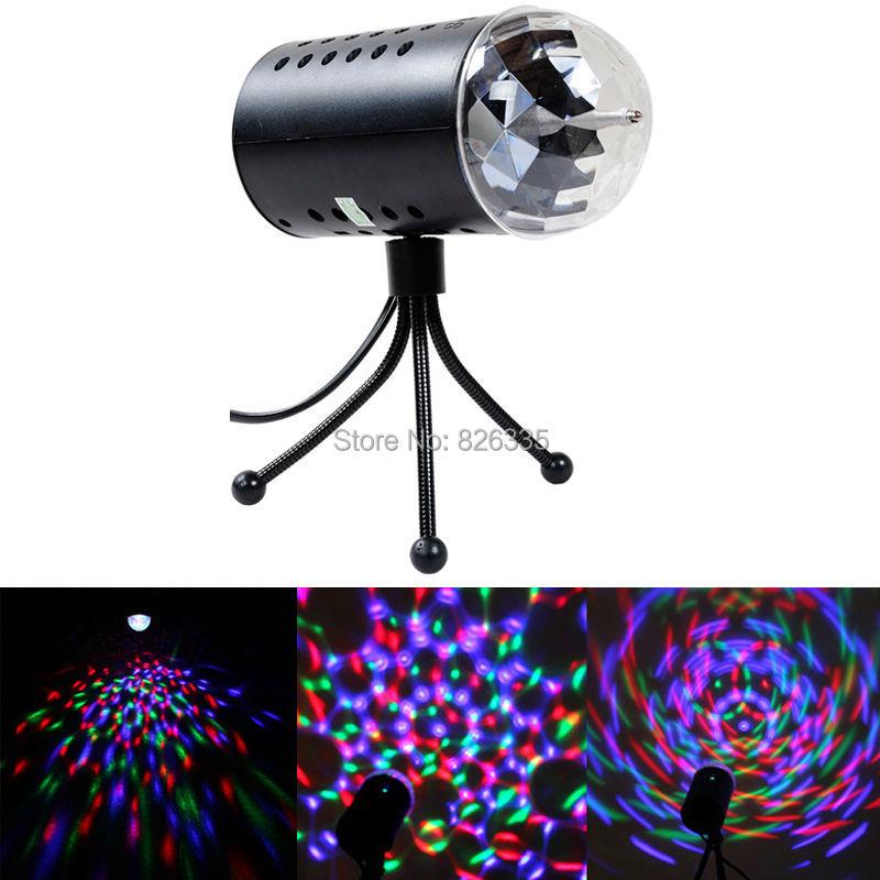 Disco Light Colorful DMX 3W DJ LED Auto Moving Head Rotating Stage Light RGB Crystal Evening lights(China (Mainland))