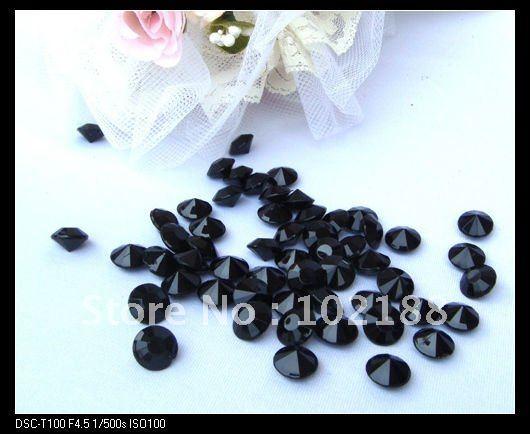 Diamond Wedding Decoration Confetti-Black(10mm) - Ningguo Stylish Convertible Gift Packaging Plant store