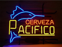"""NEON SIGN Fish For Shark PACIFICO CLARA MEXICAN CERVEZA   Signboard REAL GLASS BEER BAR PUB  display  outdoor Light Signs 17*14""""(China (Mainland))"""