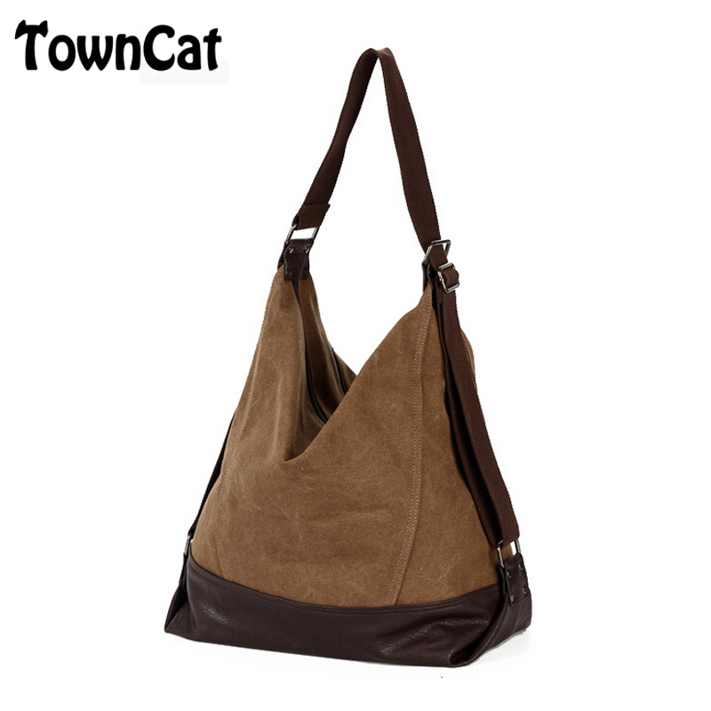 Vintage Women's Casual Canvas Handbags Shoulder Messenger Bags Tote Purse for Everyday Use(China (Mainland))