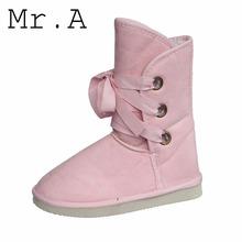 Caliente venta botas para la nieve baratos mujeres ' s Winter botas para la nieve de moda patea los zapatos cálido mujeres pisos zapatos caliente(China (Mainland))