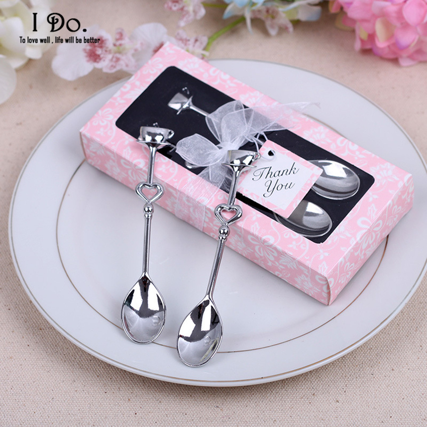 Free Shipping Couple Coffee Spoon Wedding Favors And Gifts Wedding Gifts For Guests Wedding Souvenirs Event & Party Supplies(China (Mainland))