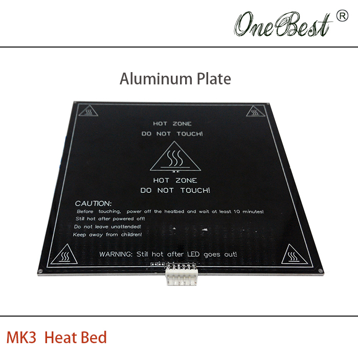 3D printer accessories MK3 aluminum plate hot bed heating bed reprap standard printer heat bed 214x214x2mm Free shipping(China (Mainland))