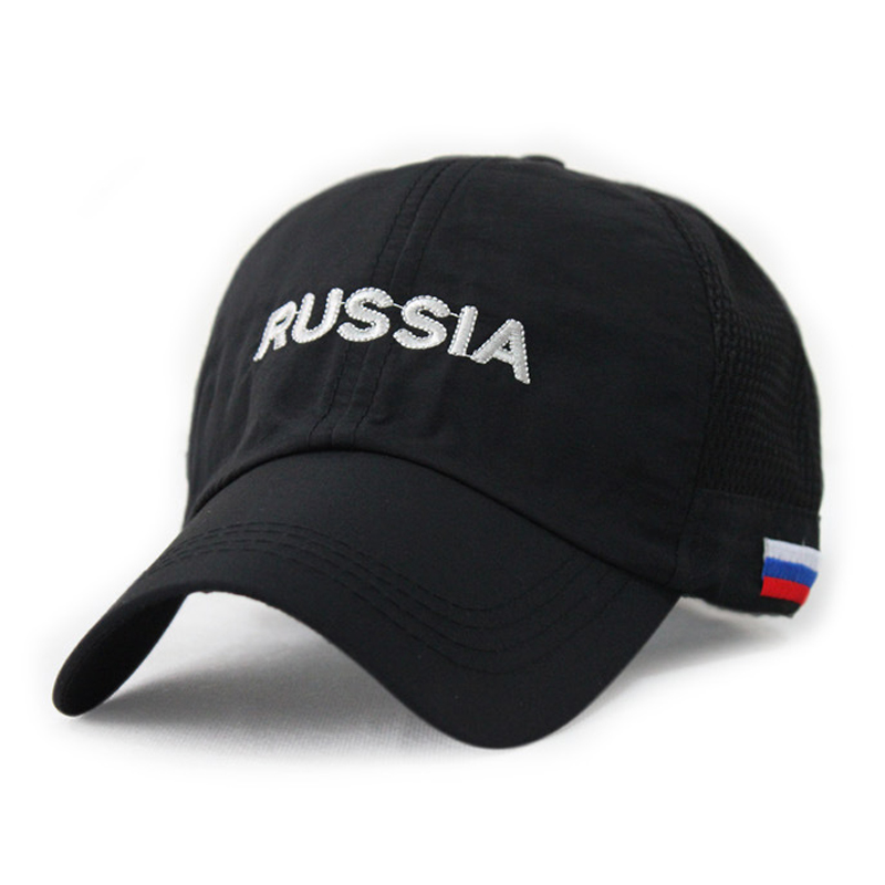 brand super light and thin outdoor leisure mesh cap russia embroidery breathable baseball caps thin quick dry male sport hat(China (Mainland))