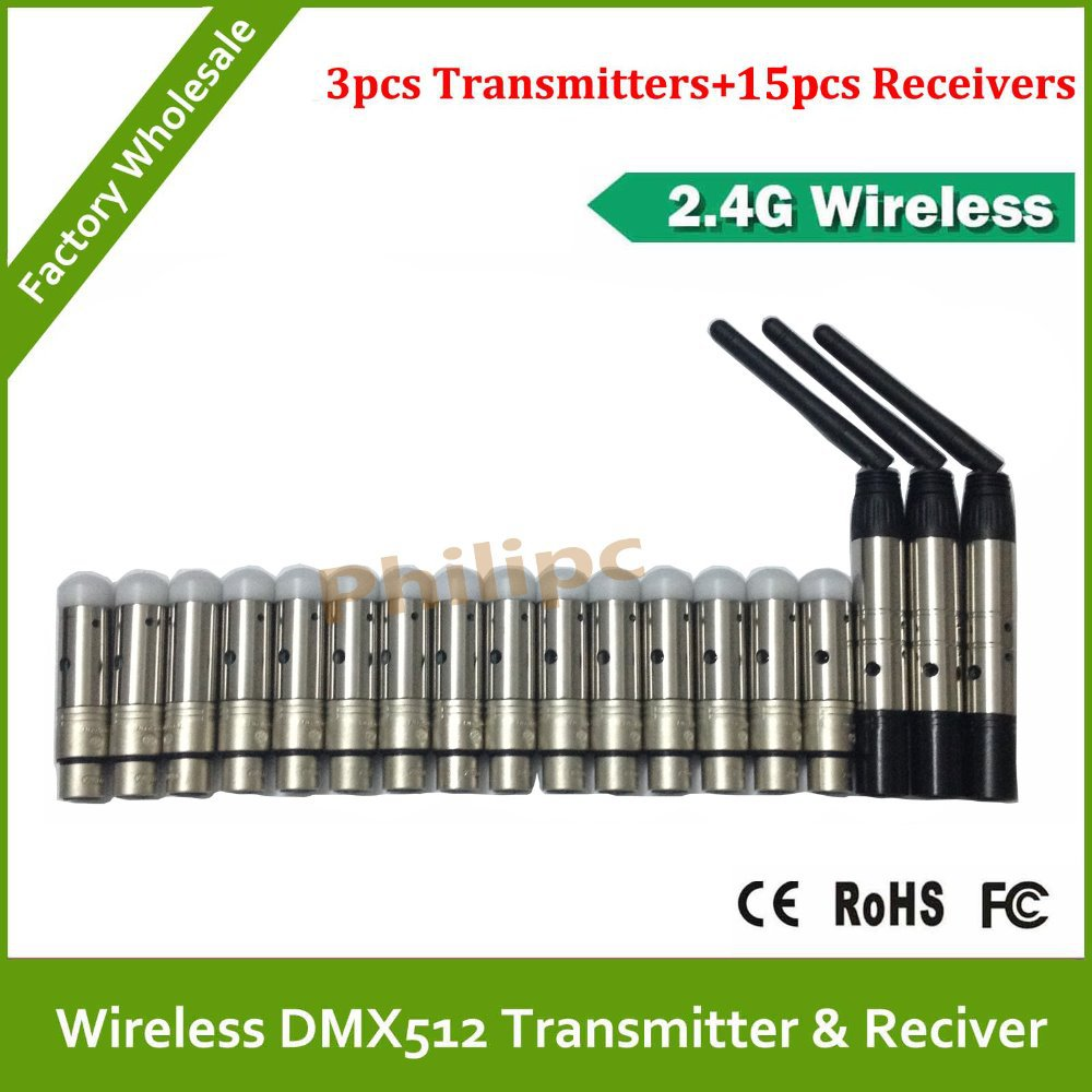 18pcs/lot DHL Free Shipping Wholesale High Qulity wireless DMX controller ,DMX Wireless Controller ,DMX512 Wireless Controller(China (Mainland))