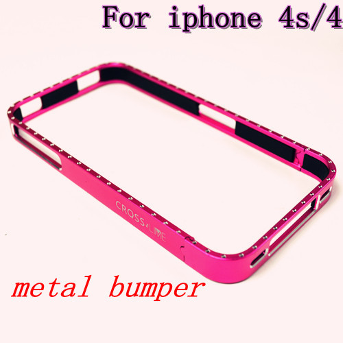 Newest Metal Aluminum Frame Bumper Case for iphone 4s 4 , Vapor 4 case for iphone 4s ,+retail box(China (Mainland))