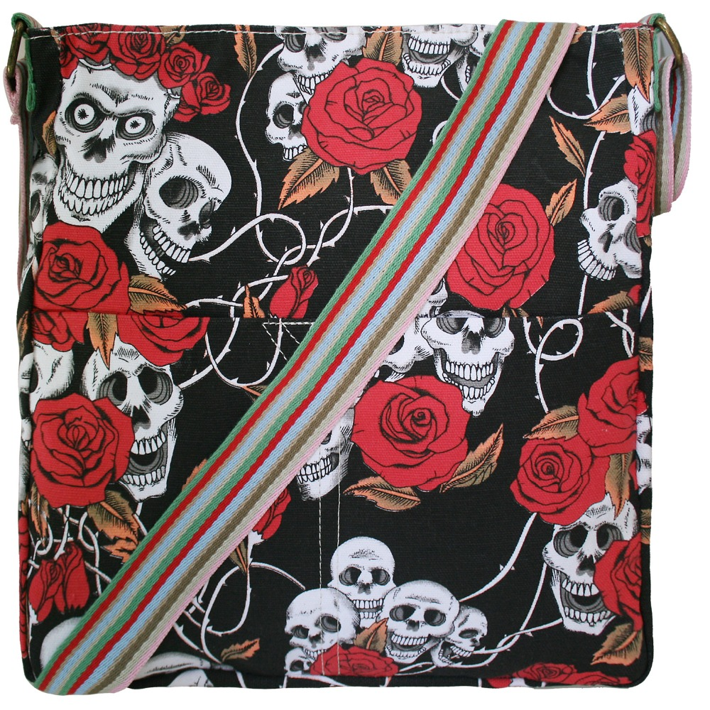 where to buy hermes bags online - Aliexpress.com : Buy 1 X Skull Rose Canvas School Messenger ...