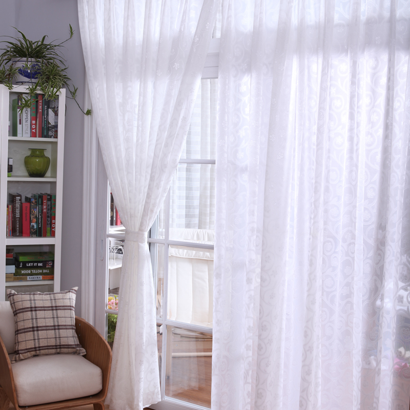 Small white window curtains butik work