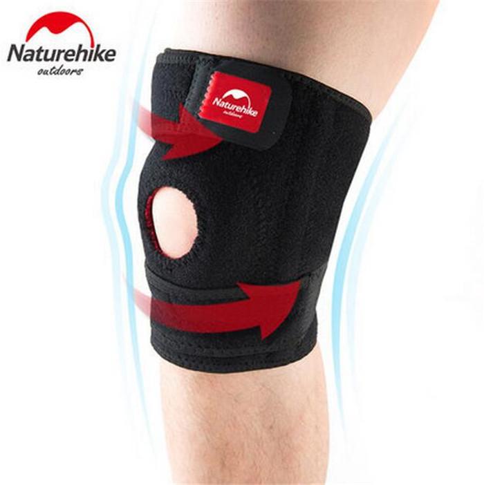 Naturehike 1 pc Basketball Football Hiking Cycling Professional Adjustable Knee Support Brace Wrap Protector Kneepad Sleeve Cap(China (Mainland))