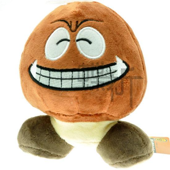 "100pcs/lot wholesales hot sales 6.3"" Super Mario Game anime Plush Laughing poisonous mushroom Chestnut baby doll toys 16cm(China (Mainland))"