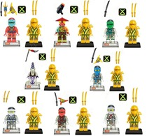 1Building Blocks Minifigures Cole Kai Jay Lloyd Nya Zane Ronin Golden Ninja Figures Gifts Toys Bricks Compatible Legoe - Hand in Toy store