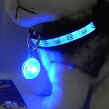 Chichuahua Blinkt Haustier Hundehalsband LED Glowing Kragen Zubehör Elektrische Licht Anhänger Hund Zubehör Für Kleine Hunde Halsbänder(China (Mainland))