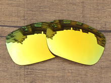 24K Golden Mirror Polarized Replacement Lenses For TwoFace Sunglasses Frame 100% UVA & UVB Protection