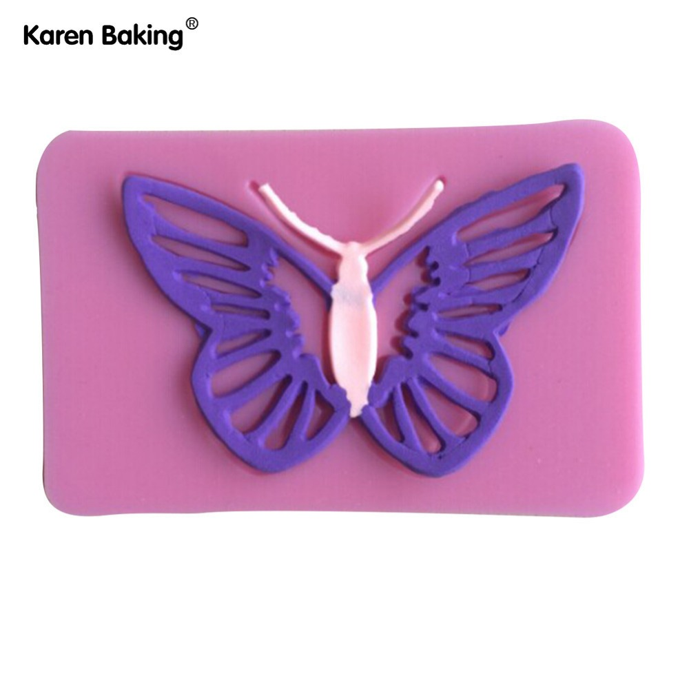 1Pcs Chocolate Candy Jello 3D Big Magic Butterfly Silicone Lace Mold Cake Decoration Tools Y019(China (Mainland))