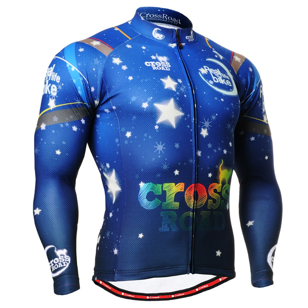 Bike Clothing Blue Starry Sky Graphics Mens Cycling Jersey Mountain Bicycle Shirt Anti-sweat Quick Dry Breathable CS-2301<br><br>Aliexpress