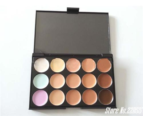 New 15 Colors Make up highlight and contour Powder Palette Cosmetic Facial Makeup Pressed face powder(China (Mainland))