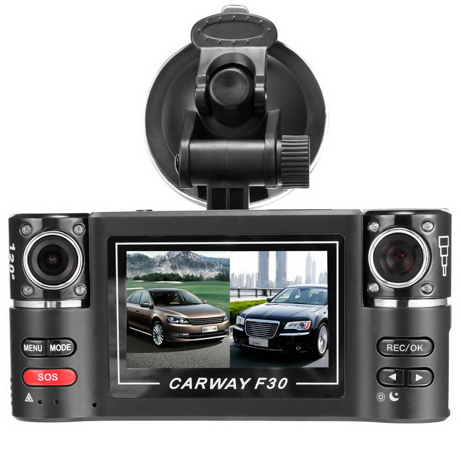 2016 New Professional 2.7inch Dual Lens Car Vehicle 5MP HD Dash Camera DVR Cam Night Vision Recorder Kit Low Price #y68Q(China (Mainland))