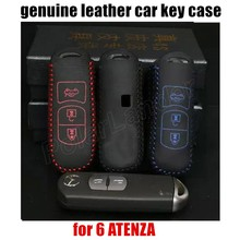 best selling sewing Hand car key case cover leather Car cloth fit MAZDA CX NEW -5 AXELA 6 ATENZA - QING XIN's store