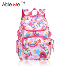 Stylish Women Backpack For Teenagers Girls Cartoon Rainbow And Star Children School Bags Kids Travel Bag Mochilas Militares Bags(China (Mainland))