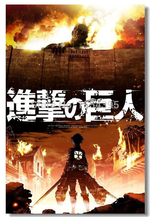 Custom Attack on Titan 3 Modern Movie Poster Fashion Stylish Home Decor Retro Bedroom High Quality