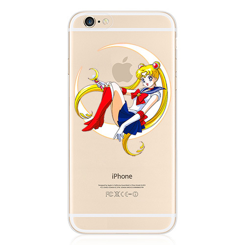For iPhone 6 6S Case 4.7 Inch Transparent Clear TPU Gel Sailor Moon Cell Phone Protective Cases Covers(China (Mainland))