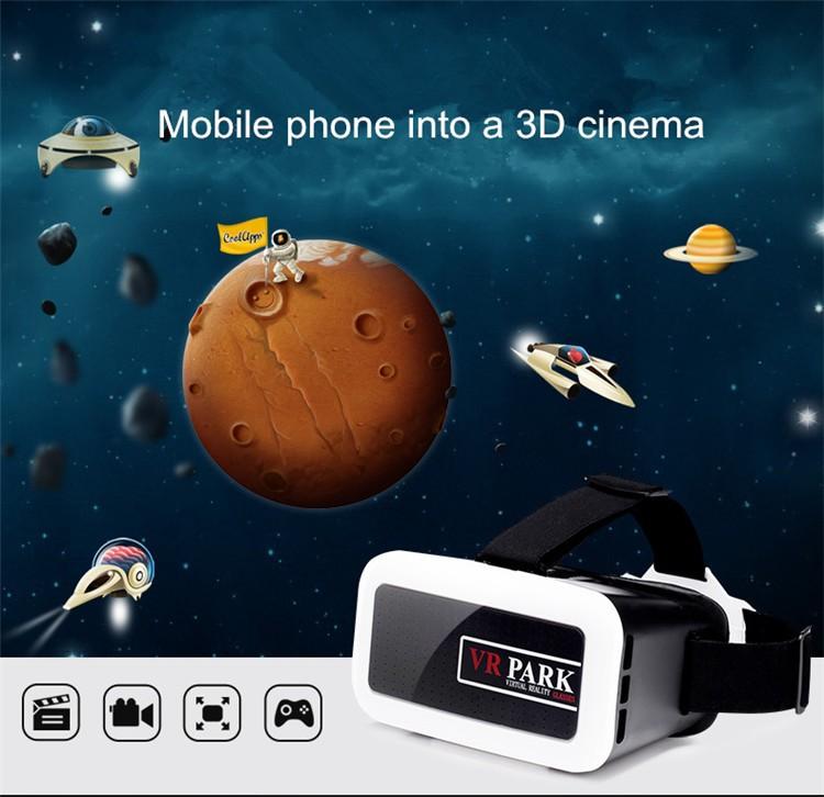 ถูก เกียร์VRพาร์ค3Dแว่นตาหัวหน้าเมาGafasPlastic VRกล่องความจริงเสมือนgoogleกระดาษแข็งสำหรับsamsung/iphone 4-6นิ้วมาร์ทโฟน