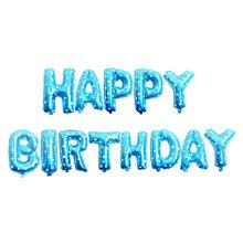 16 Inch Huruf HAPPY BIRTHDAY Foil Balon Ulang Tahun Pesta Dekorasi Anak-anak Alfabet Balon Udara Baby Shower Persediaan(China)