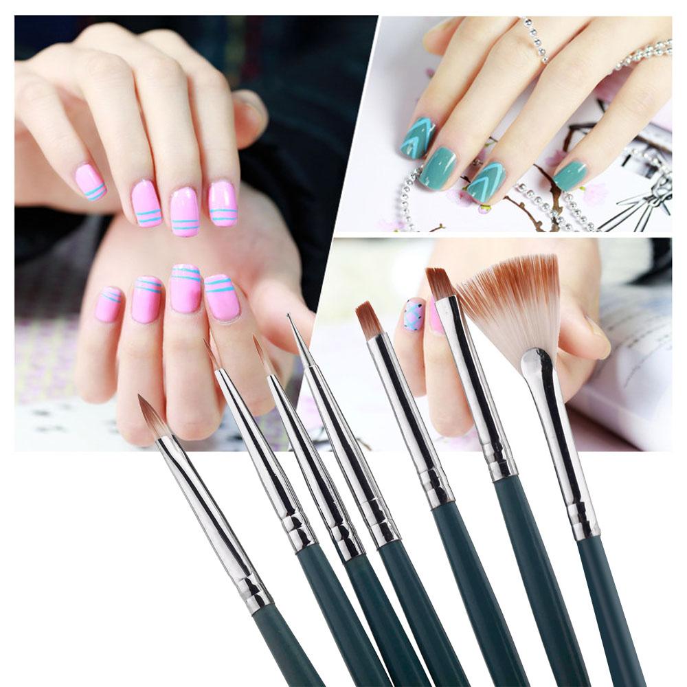 Кисточка для ногтей OEM DIY Set 7pcs Nail Brushes кисточка для ногтей yifu store 1 2ways diy nao10