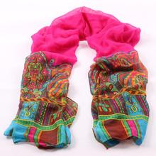 2015 New Brand Chiffon Scarves Shawl Bandana Fashion Summer Beach Scarf India Style Ladies fashion floral scarf infinity scarf